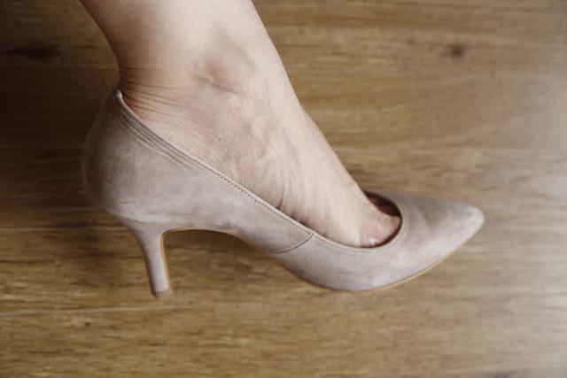 靴のサイズが合わないせいでかかとが乾燥する